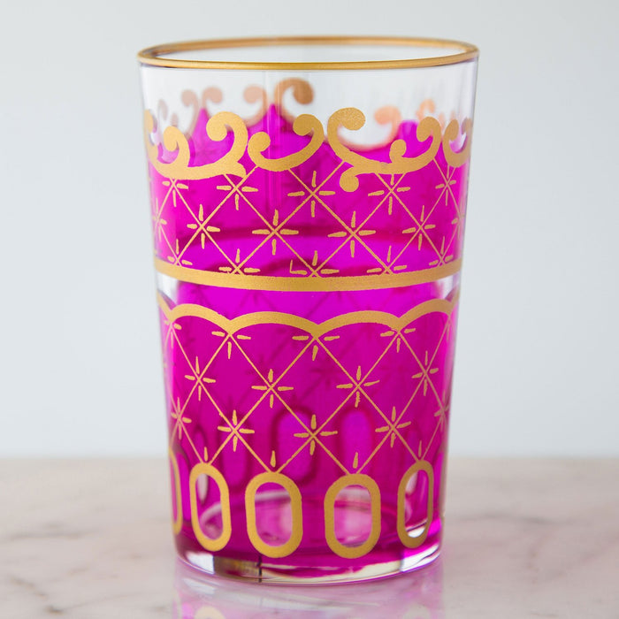 Pink & Gold Nejma Moroccan Tea Glass
