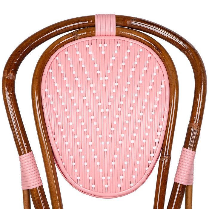 Pink and White Mediterranean Bistro Chair (L)