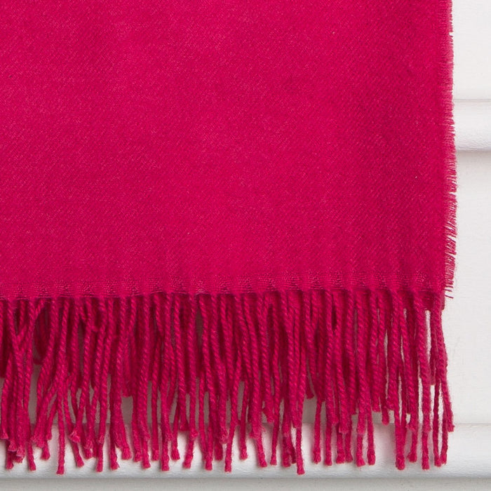 Pink Baby Alpaca Wool Throw Blanket