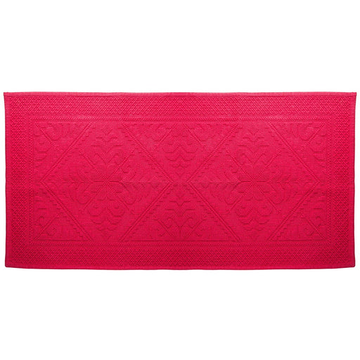 "Pink Cotton Bath Mat (43"" x 21"")"