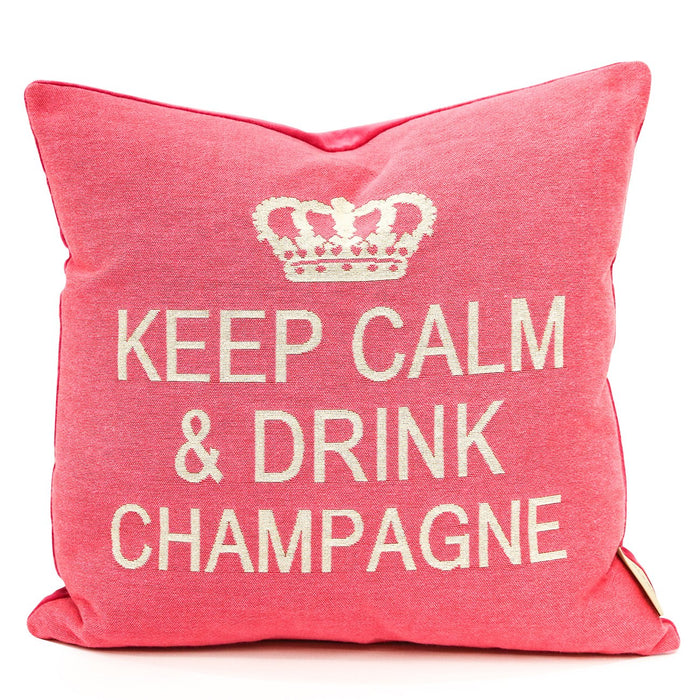 Pink Keep Calm Pillow