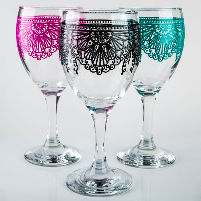 Pink Lalla Moroccan Wine Glass