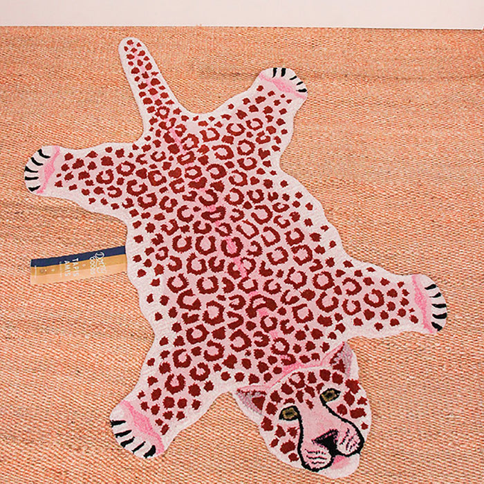 Pink Leopard Animal Rug (Small)