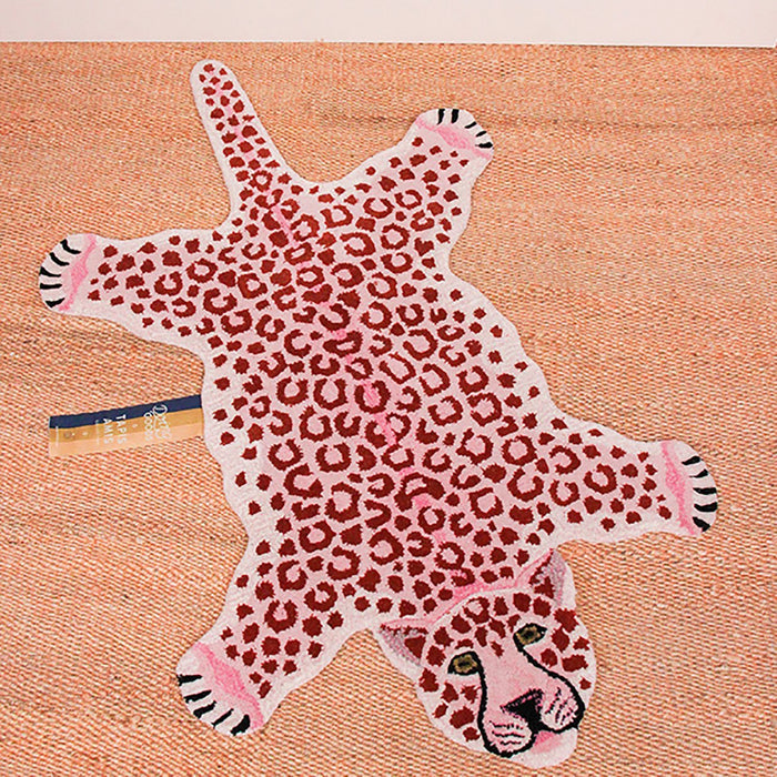 Pink Leopard Animal Rugs