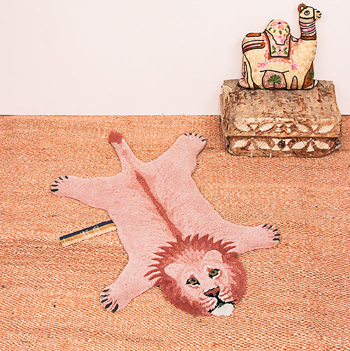 Pink Lion Animal Rug (Small)