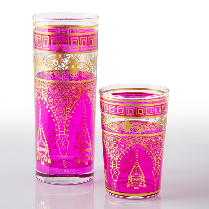 Pink Misbah Moroccan Tea Glass (Tall)