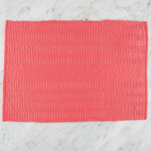 "Pink Patterned 100% Cotton Rep Weave Placemat (18.5"" x 13"")"
