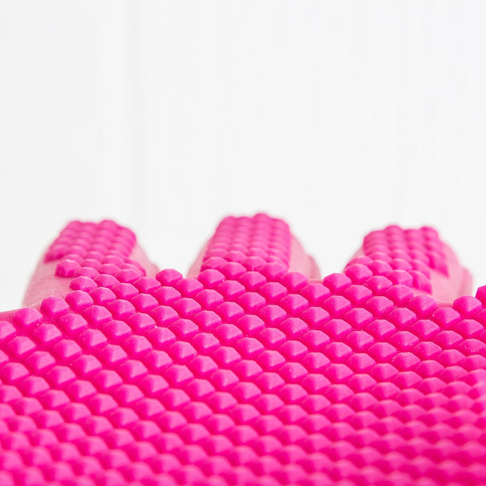 Pink Silicone Oven Mitt