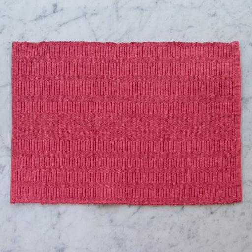 "Pink Stripe 100% Cotton Rep Weave Placemat (19.25"" x 13"")"