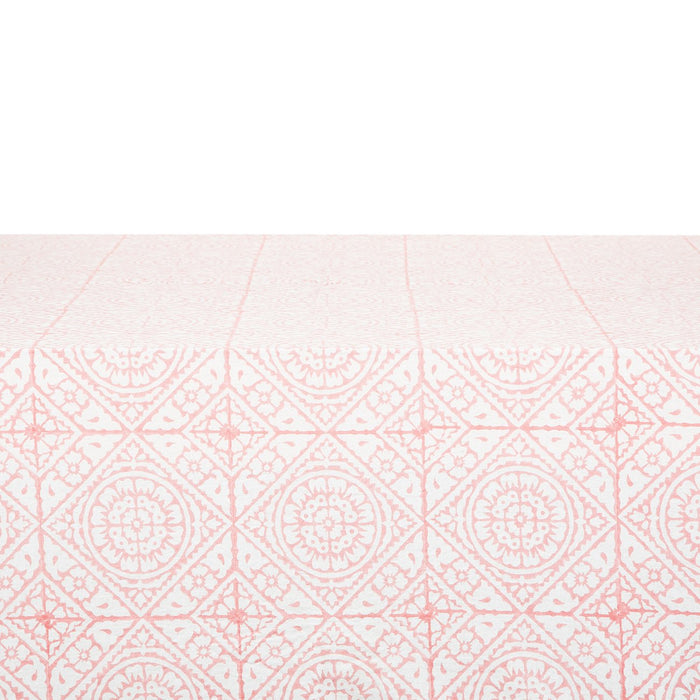 "Pink Tiled Tablecloth (67"" x 67"")"