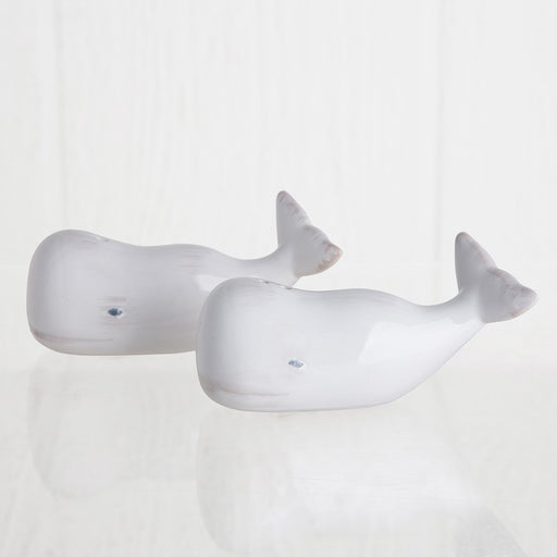 Porcelain Whale Salt & Pepper Shakers