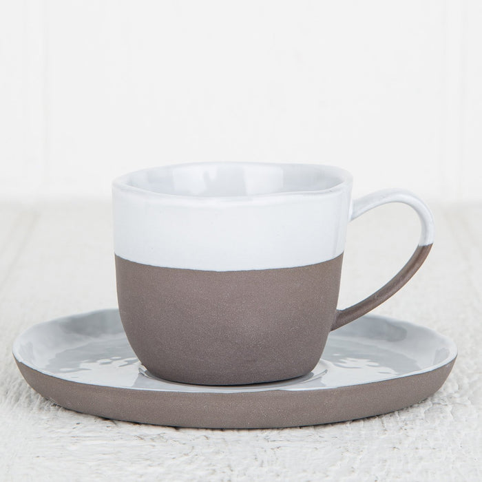 Primitive Cup and Saucer