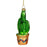 Pronged Cactus Glass Ornament