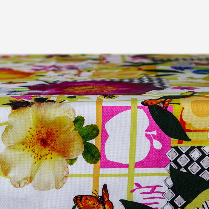 "Rave Party Themed Cotton Tablecloth (63"" x 91"")"