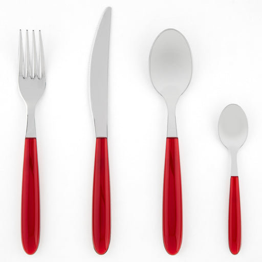 Red 24 Piece Italian Place Setting