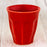 Red 2oz Colorful Ceramic Mini Cup
