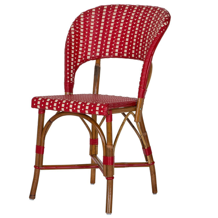 Red and Cream Mediterranean Bistro Wrap Back Chair (MAR)
