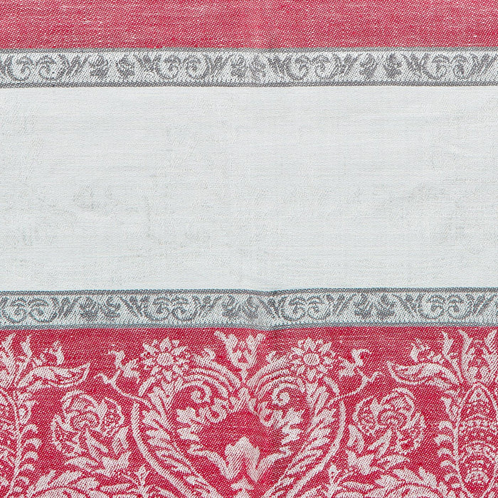 Red and Grey Capricho Linen Tablecloth