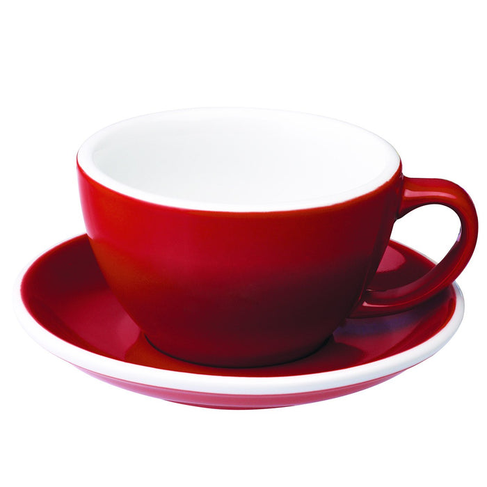 Red Café Latte Cup and Saucer (10 oz.)