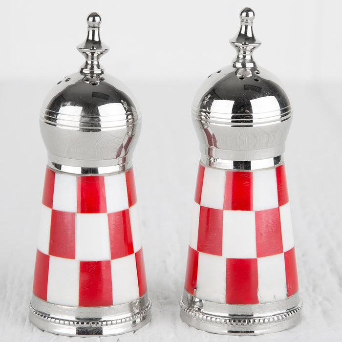 Red Cafe Salt and Pepper Shakers