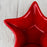 "Red Ceramic Star Serving Dish (6"" w)"