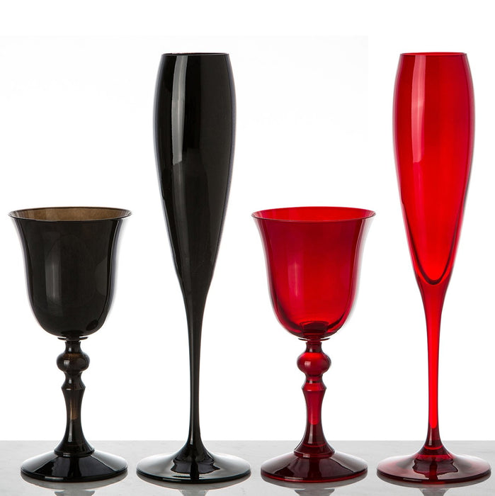 Red Champagne Flute