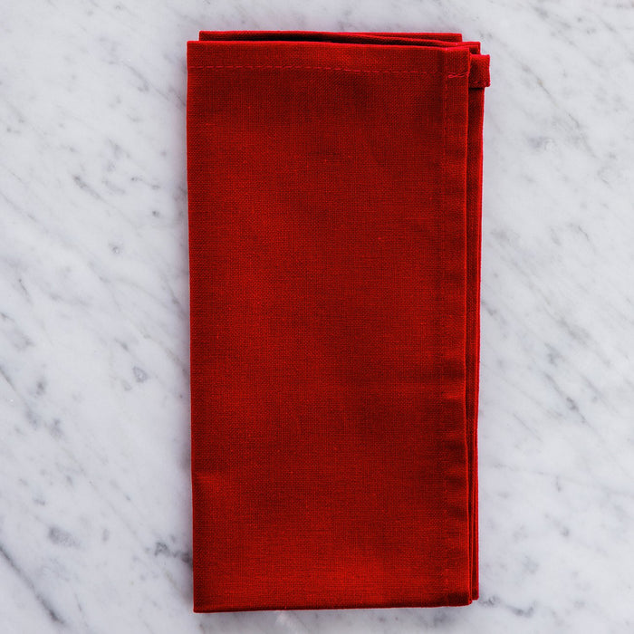 "Red Cotton Napkin (17.5"")"
