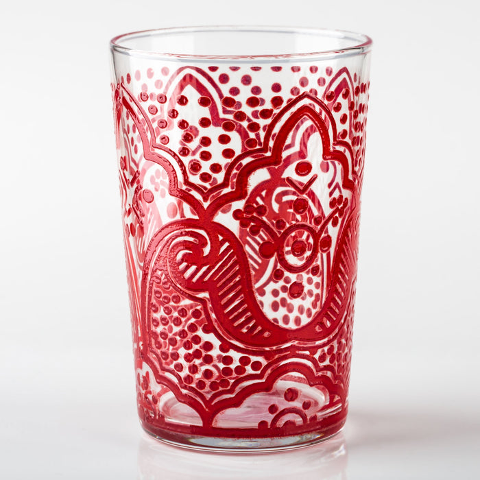 Red Chiba Moroccan Tea Glass