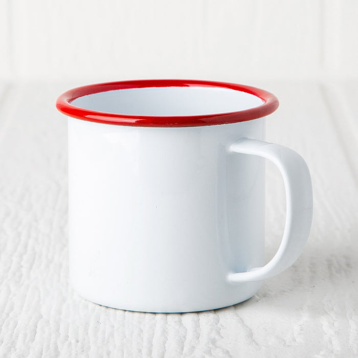 Red Enamelware Coffee Mug (8 oz.)