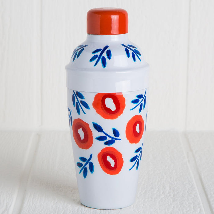 Red Floral Cocktail Shaker