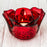 Red Flower Shaped Votive