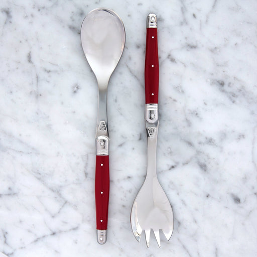 Red Laguiole Salad Servers (2 Piece)