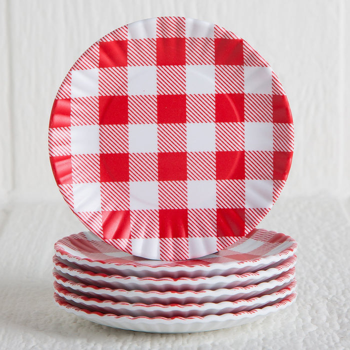 Red Melamine Coasters (set of 6)