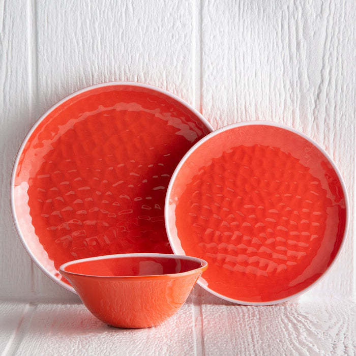 Red Melamine Dinner Plate