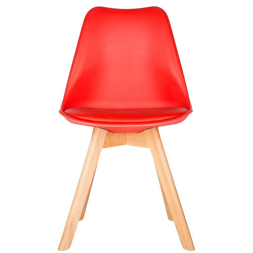 Red Scandinavian Tulip Chair