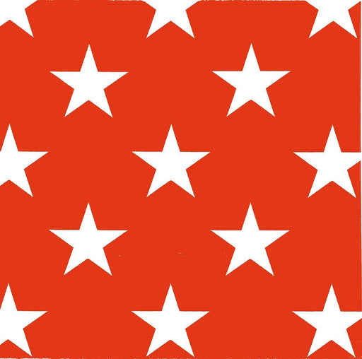 "Red Star Paper Napkins (8"")"