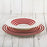Red Stripe Dinner Plate
