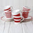 Red Stripes Ceramic Espresso Cup and Saucer Set (Various Stripes)
