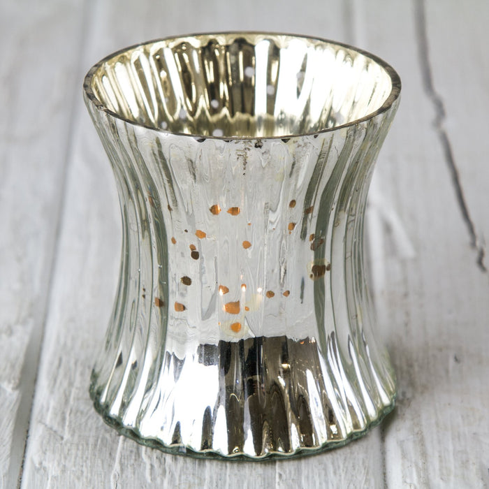 Ribbed Mercury Glass Votive
