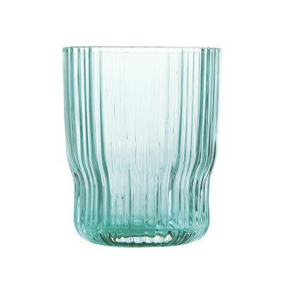 Riffle Glass Tumbler (Light Turquoise)