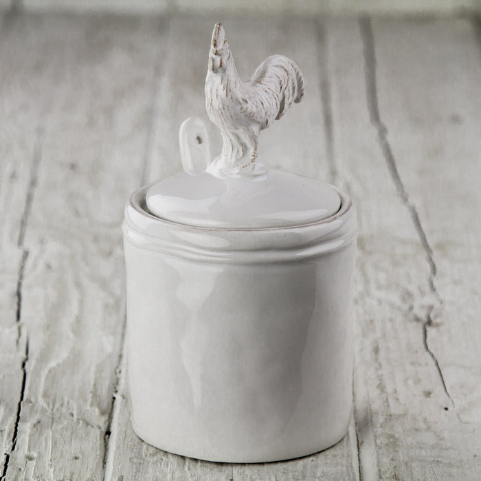 Rooster Sugar Pot with Spoon