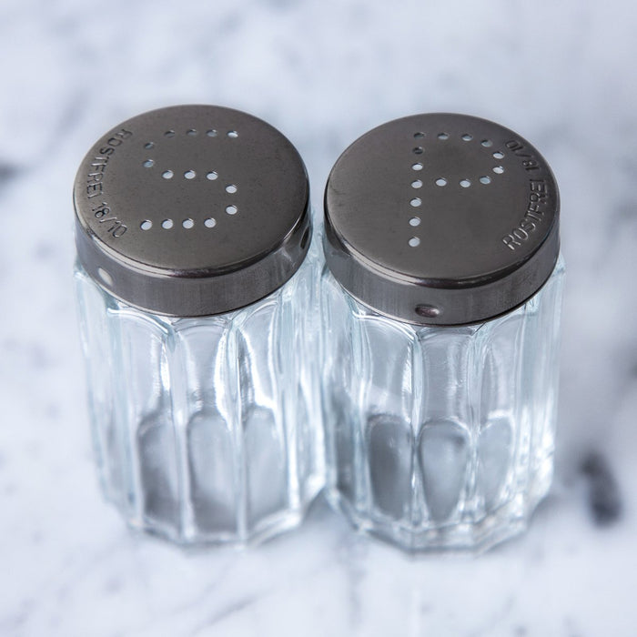 Rostfrei 18/10 Stainless Steel Salt and Pepper Shakers