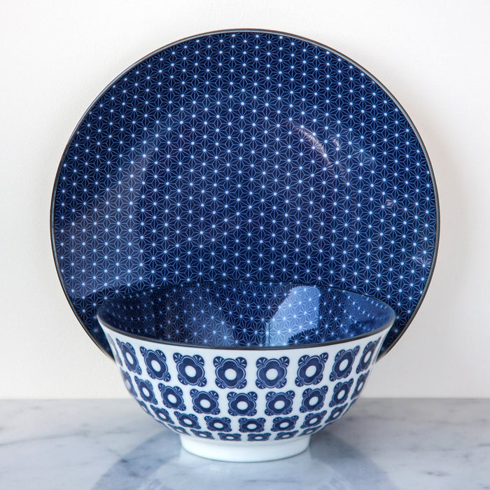 Royal Blue Geometric Bowl