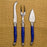 Royal Blue Laguiole Parmesan Cheese Set (3 piece)