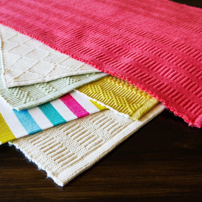 "Sangam Stripe 100% Cotton Rep Weave Placemat (19.25"" x 13"")"