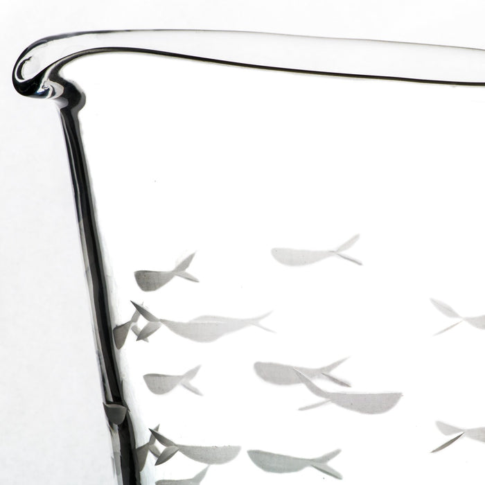School of Fish Etched Pitcher