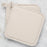 Set of 2 Beige Cotton Pot Holders