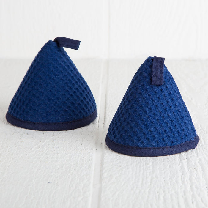 Set of 2 Blue Pot Handle Holders