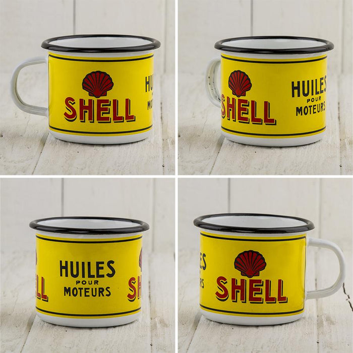 Shell Gas Enamel Mug