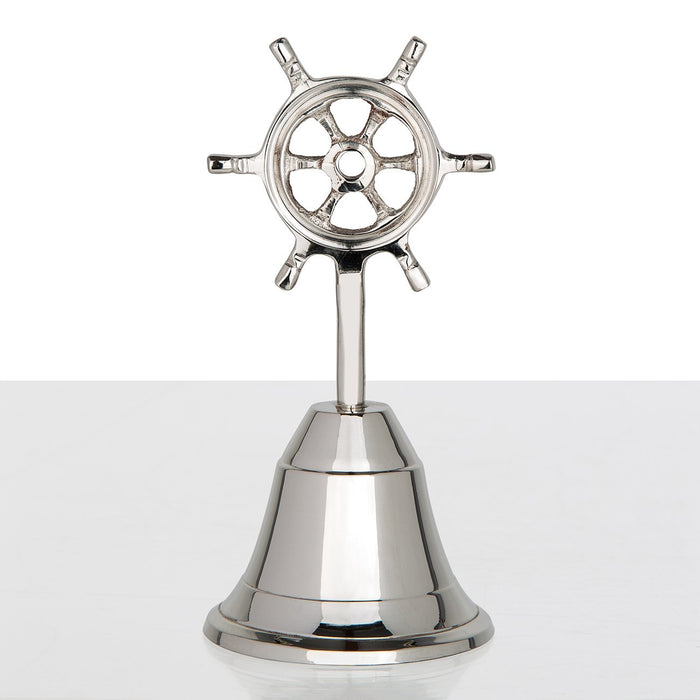 Ship Wheel Aluminum Bell